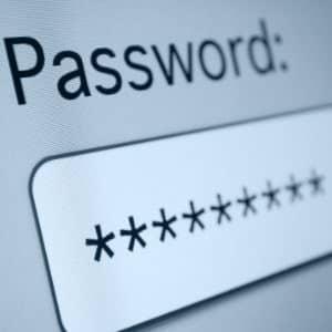 Passwort im Einsatz