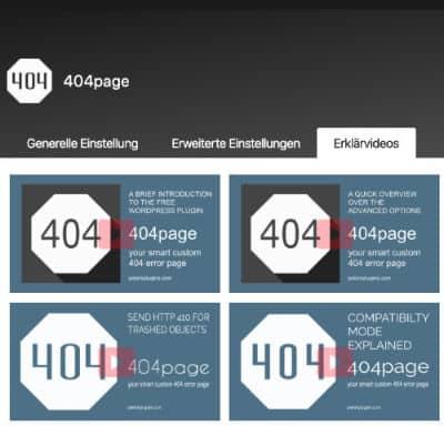 Wordpress Plugins 404